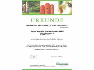 Spende für das Albert-Schweitzer-Kinderdorf